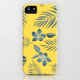 Yellow Sunset Paradise iPhone Case