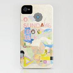 ON SUNDAYS I DON'T TALK Slim Case iPhone (4, 4s)