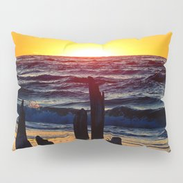 Silhouettes of the Past at Sunset Pillow Sham