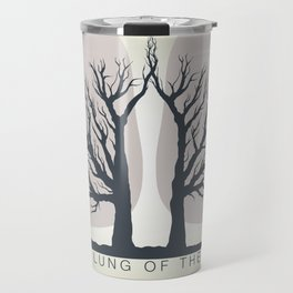Trees - the lungs of the planet. Icon of ecology in nature Travel Mug