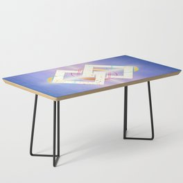 Linked Lilac Diamonds :: Floating Geometry Coffee Table