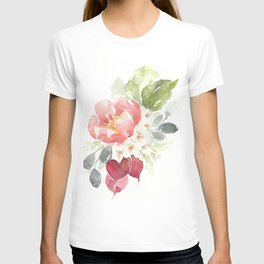 Watercolor Radish Bouquet T-shirt