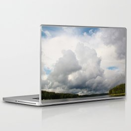 Clouds above the lake Laptop & iPad Skin