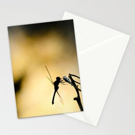 Dragonfly silhouette Stationery Cards
