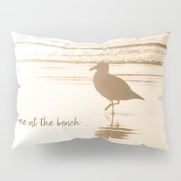 Meet Me at the Beach (typography) Pillow Sham