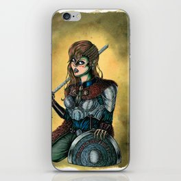 Portrait of Shieldmaiden iPhone Skin