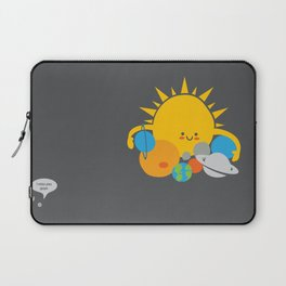Hugs are for Planets Only Laptop Sleeve