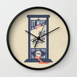 It Might be One of the Last Things You and Your Head Do as a Team Wall Clock