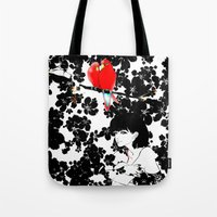 valentine Tote Bags featuring Valentine by Priscilla Moore