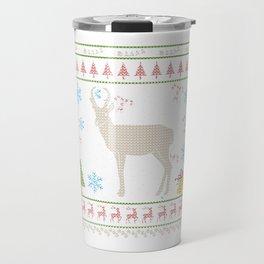 Prong Horn Sheep Hunting Christmas Ugly Holiday Shirt Travel Mug