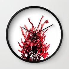 Carnage watercolor Wall Clock