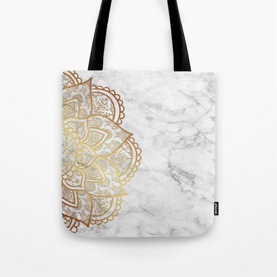 Mandala - Gold & Marble Tote Bag