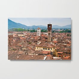 Aerial view of Lucca in Tuscany Metal Print
