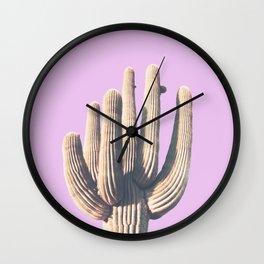 pink, saguro, California photography, California Wall Art, Palm Springs Wall Clock