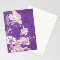 Japanese FLowers Purple Pink Stationery Cards