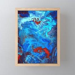Red and Blue lava Melt Framed Mini Art Print