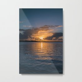 Sunset in Key Largo Metal Print
