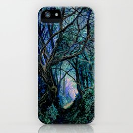 Blue Forest Path iPhone Case