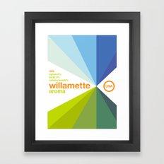 willamette//single hop Framed Art Print