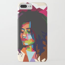 beautiful frizzy girl iPhone Case