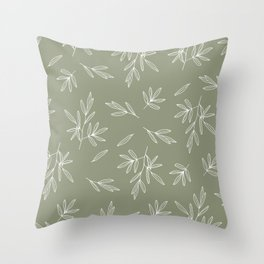 Olive in Olive Throw Pillow