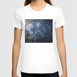 Swirling Blue Clouds of Planet Jupiter from Juno Cam T-shirt