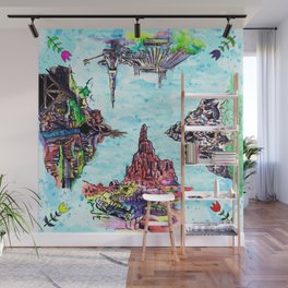 Happiest Four Mountains Wall Mural
