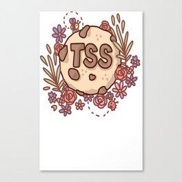 Team Sin Squad- Floral Logo Canvas Print