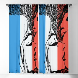 French Love Pop Art Blackout Curtain