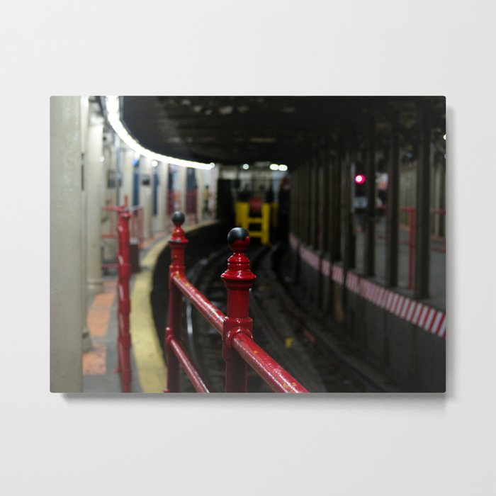 Times Square Subway Stop Metal Print