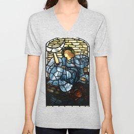 """Edward Burne-Jones """"The morning star"""" Unisex V-Neck"""