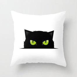 Black cat follow you #society6 #decor #buyart #artprint Throw Pillow