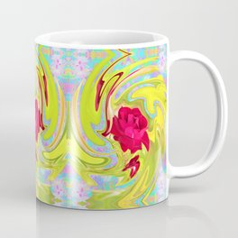 Cool Red Rose Abstract Art 096 Pattern Coffee Mug