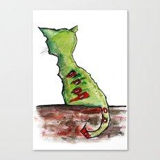 Reflective Zombie Cat Canvas Print