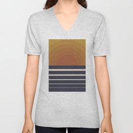 Retro Sunset Unisex V-Neck
