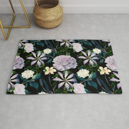 Exotic garden paradise night Rug