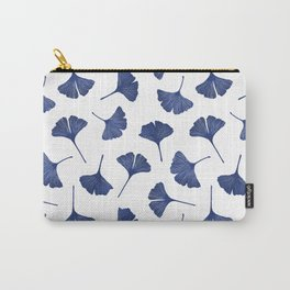 Blue Ginkgo Biloba Pattern Carry-All Pouch