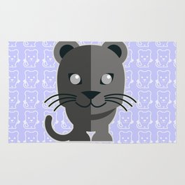 oneechan no kuro neko black cat kitten panther Rug