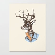 Lucienne the crying deer (with tattoos) Canvas Print