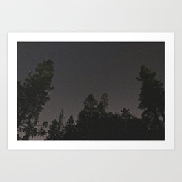 Rocky Mountain Night Sky  Art Print