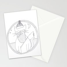 Cat fisherman Stationery Cards
