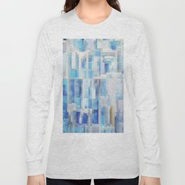 Abstract blue pattern 2 Long Sleeve T-shirt