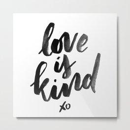 Love is Kind Metal Print