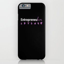 Female Entrepreneur CEO Business Girl Boss Strong iPhone Case