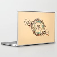 voyage Laptop & iPad Skins featuring Bon Voyage by Norman Duenas