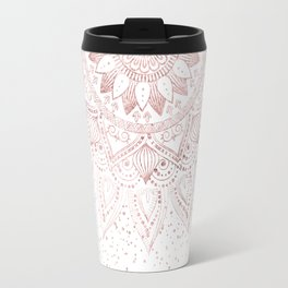 Elegant rose gold mandala confetti design Travel Mug