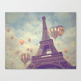 Balloons over Paris Canvas Print