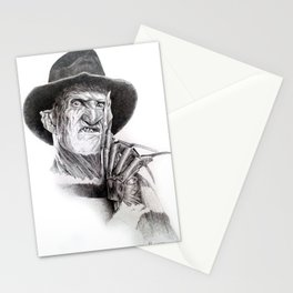 Freddy krueger nightmare on elm street Stationery Cards
