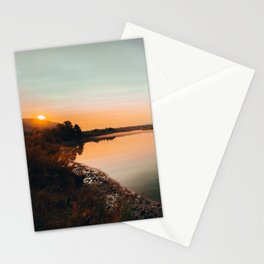 Morning Sunrise at Oxbow Bend Stationery Cards