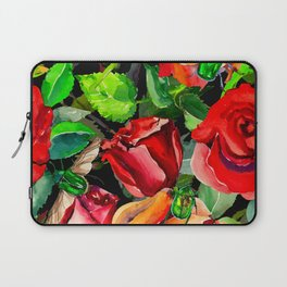 Green Rose Chafer Beetles Amidst the Garden Laptop Sleeve